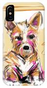 dog I did not make this mess IPhone Case