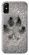 Dog Paw Print In Sand IPhone Case