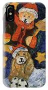 Doggie Xmas Stocking 03 Photo Art IPhone Case