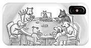 Dogs Playing Poker Refer Angrily To A Cat Who IPhone X Case
