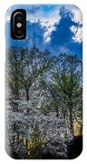 Dogwoods And Dramatic Sky IPhone Case