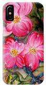 Dogwoods In Pink IPhone Case