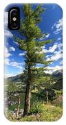 Dolomites - Tree Over The Valley IPhone Case