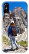 Dolomiti - Hiker In Sella Mount IPhone Case