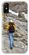 Dolomiti - Hiker In Val Setus IPhone Case