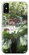 Dolphin Pond And Garden Green IPhone Case