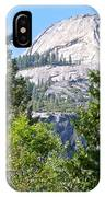 Dome Next To Half Dome Seen From Yosemite Valley-2013 IPhone Case