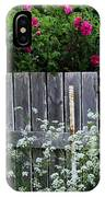 Don't Fence Me In - Wild Roses - Old Fence IPhone Case
