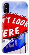 Don't Look Up Here Crab Cooker Sign Photo IPhone Case