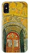 Doorway Entry To Cathedral Of The Archangel Inside Kremlin Walls In Moscow-russia IPhone Case