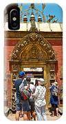 Doorway In Bhaktapur Durbar Square In Bhaktapur-nepal IPhone Case