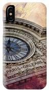 D'orsay Clock Paris IPhone Case