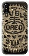 Double Stuff Oreo In Sepia Negitive IPhone Case