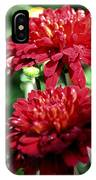 Doubled Red Mums IPhone Case