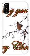 Dove - Snowy Limb - Christmas Card IPhone Case