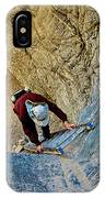 Down The Ladder In Big Painted Canyon Trail In Mecca Hills-ca  IPhone Case