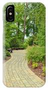 Down The Path To The Bench IPhone Case