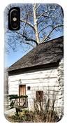 Downingtown Log House 1701 IPhone Case