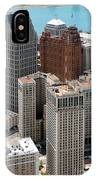 Downtown Aerial Of Detroit Michigan IPhone Case