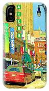 Downtown Montreal Eatons Centre Complex Les Ailes Old Navy Rue Mcgill College City Scenes  C Spandau IPhone Case