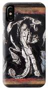 Dragon Lion Repousse And Chasing By Alfredo Garcia Art - Original Mixed Media Modern Abstract Painti IPhone X Case