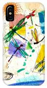 Dragonflies And Dog IPhone Case