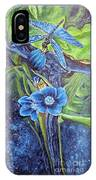 Dragonfly Hunt For Food In The Flowerhead IPhone Case
