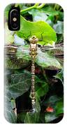 Dragonfly In An English Garden IPhone Case
