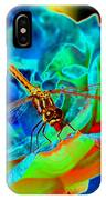 Dragonfly On A Cosmic Rose IPhone Case