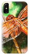 Dragonfly On Grass IPhone Case