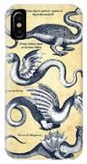 Dragons - Historiae Naturalis  - 1657 - Vintage IPhone Case
