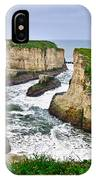 Dramatic View Of Shark Fin Cove In Santa Cruz California. IPhone Case