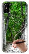 Drawn To The Woods With Imagination IPhone Case