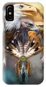 Dream Catcher - Three Eagles IPhone Case