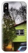 Suburban Dream - House With Blue Car IPhone Case