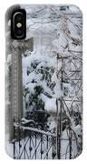 Dreamy Snowy Cross IPhone Case