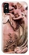 Dreamy Surreal Beautiful Angel Art Photograph - Angel Mourning Weeping At Gravestone  IPhone Case