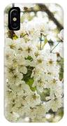 Dreamy White Cherry Blossoms - Impressions Of Spring IPhone Case