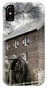 Dreary Skies At Kerr Gristmill IPhone Case