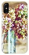 Dried Autumn Hydrangeas - Digital Paint IPhone Case