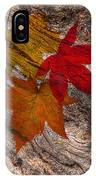 Drifting Autumn Leaves IPhone Case