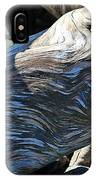 Driftwood Texture And Shadows IPhone Case