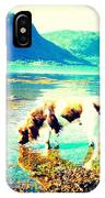 Springer Spaniel Drinking Water From The Big Blue Sea  IPhone Case
