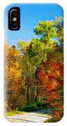 Driving Through Autumn IPhone Case