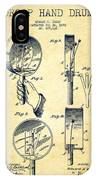 Droop Hand  Drum Patent Drawing From 1892 - Vintage IPhone Case