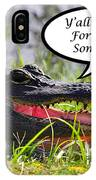 Drop In For Lunch Greeting Card IPhone Case