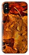 Droplets Of Autumn IPhone Case