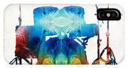 Drum Set Art - Color Fusion Drums - By Sharon Cummings IPhone X Case