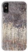 Dry Grasses And Bare Trees In Winter Forest IPhone Case