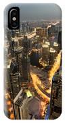Dubai Marina Twilight IPhone Case